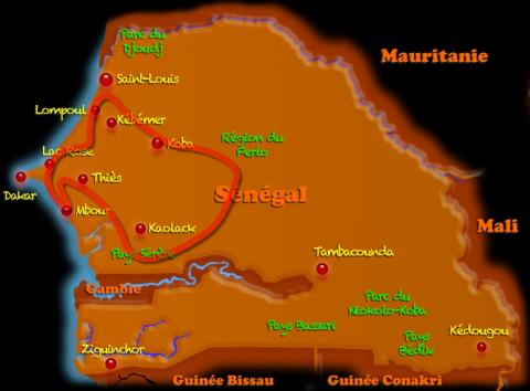 Circuit  au Sénégal