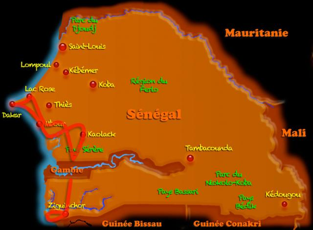 Je suis allé en Casamance (8j)